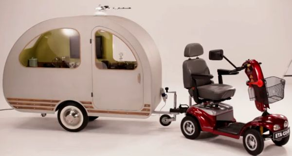 Teardrop bicycle camper bicycle campers pinterest campers - Pics Photos Funny Car Qtvan Worlds Smallest Caravan 2