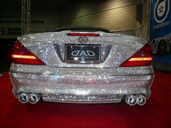 Car Humor Joke Funny Golden Gold Goldcar Mercedes Lexus Bmw Diamond