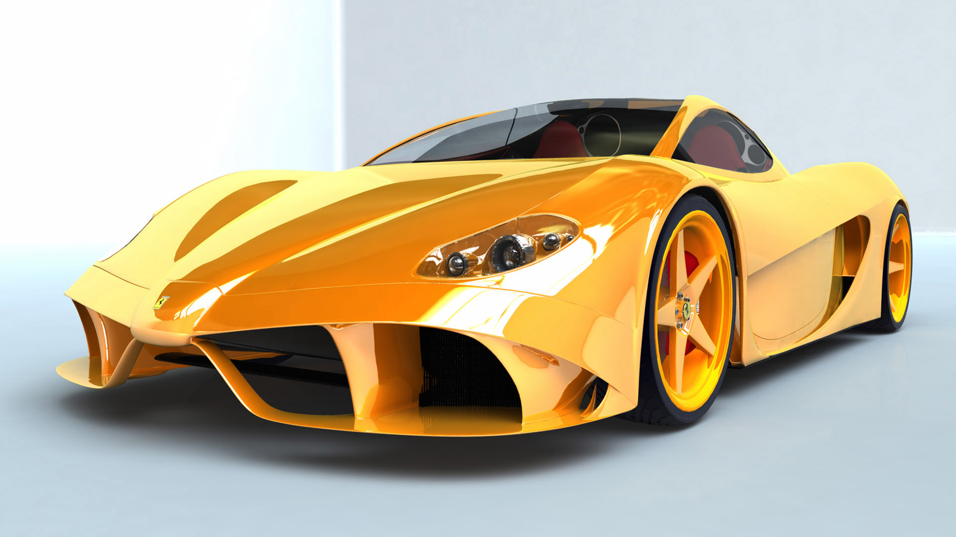 Car wallpapers: Yellow Ferrari – Car Humor