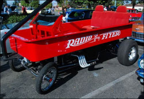 Car Humor Joke Funny Pimp Little Red Wagon Radio Flyer V8