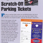 Scratch-off parking tickets