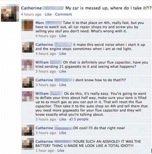 Car Joke Funny Humor Facebook Car Problem Flux Capacitor Help