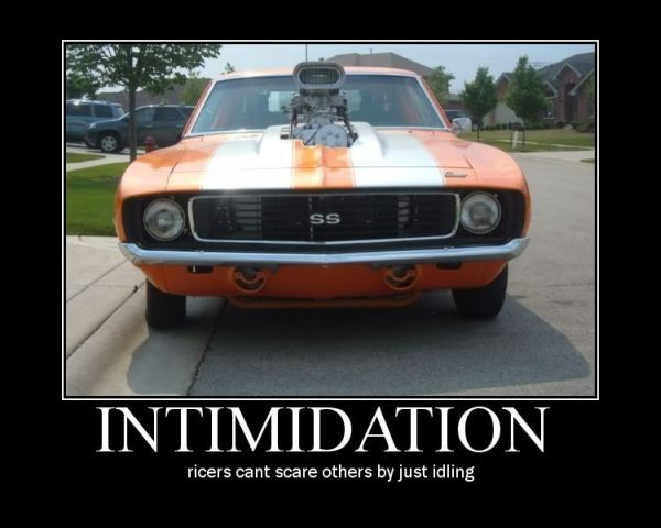 Car Humor Joke Funny Traffic Intimidation Ricers Ricer Scare