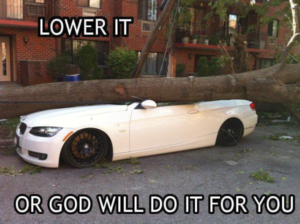 YOU LAUGH YOU LOSE (car edition) Car-humor-funny-joke-road-street-drive-driver-bmw-tree-lower-it-or-god-will-do-it-for-you