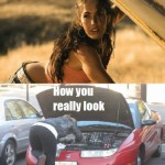 How You Think You Look When You're Repairing Your Car