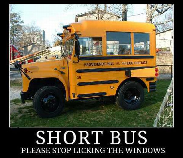 Car Humor Funny Joke Road Street Drive Driver Short School Bus Licking