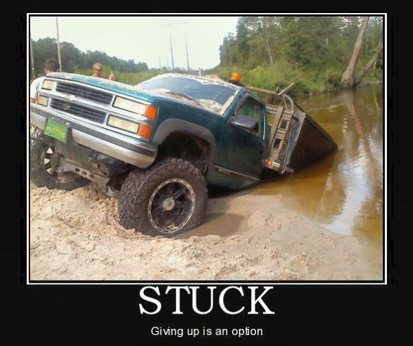 Car Humor Funny Joke Road Street Drive Driver Stuck Truck Giving