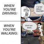 Driver Vs. Pedestrian