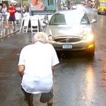 91 Year Old Man Is Pulling A Car With His Teeth