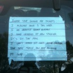 Note To Parking Attendant