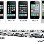 What are the similarities between iPhone and Lada?