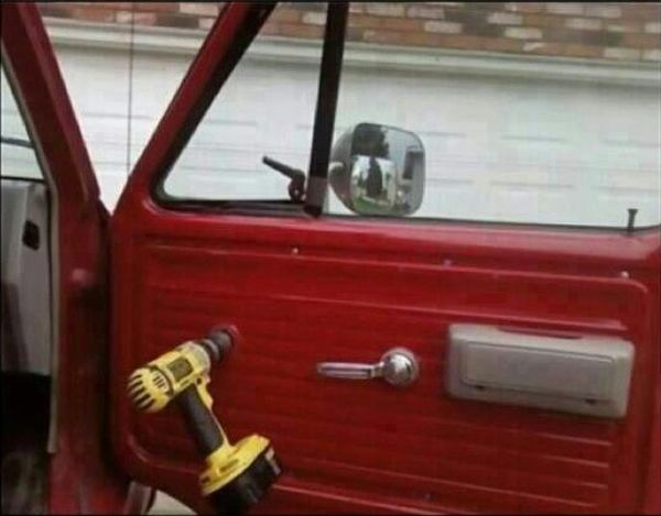 Redneck Power Windows - Car humor
