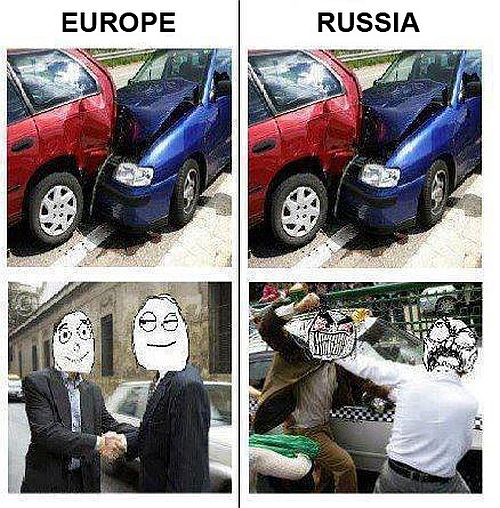 Europe Vs. Russia - Car humor