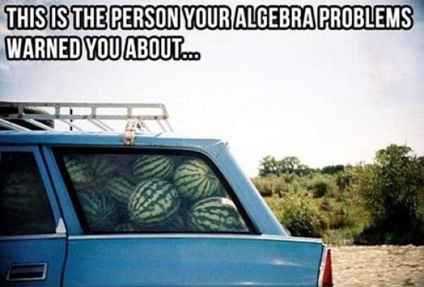 Algebra Person - Car humor