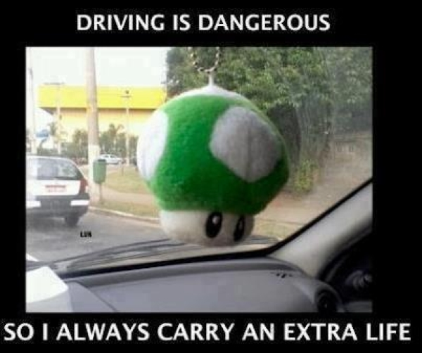 Driving is dangerous - Car humor