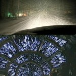 Driving Through Snowstorm