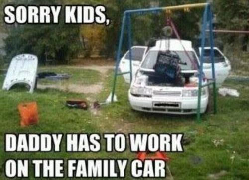 Sorry Kids - Car humor