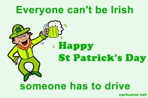 Everyone Can't Be Irish - Car humor