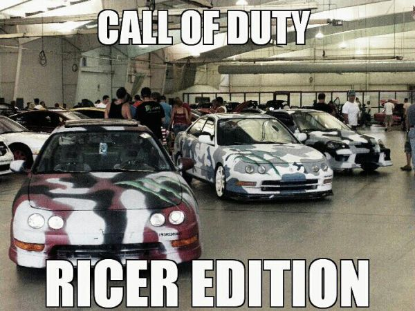 Call Of Duty Ricer Edition - Car humorCall Of Duty Ricer Edition - Car humor