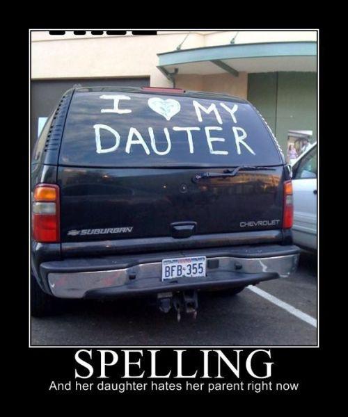 Spelling - Car humor