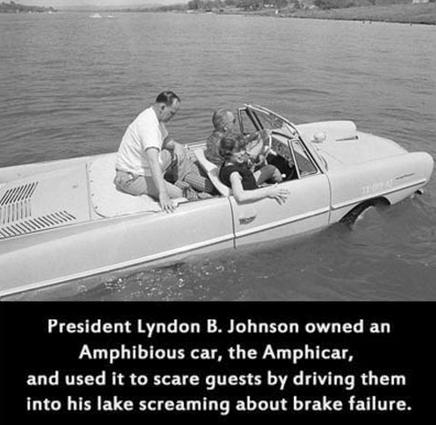 Amphibious car - Lyndon Johnson