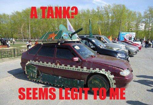 A Tank Seems Legit To Me