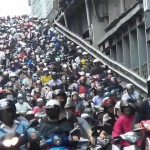 Traffic Jam in Taiwan – All of them Scooters