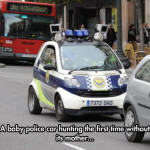 A baby police car hunting…