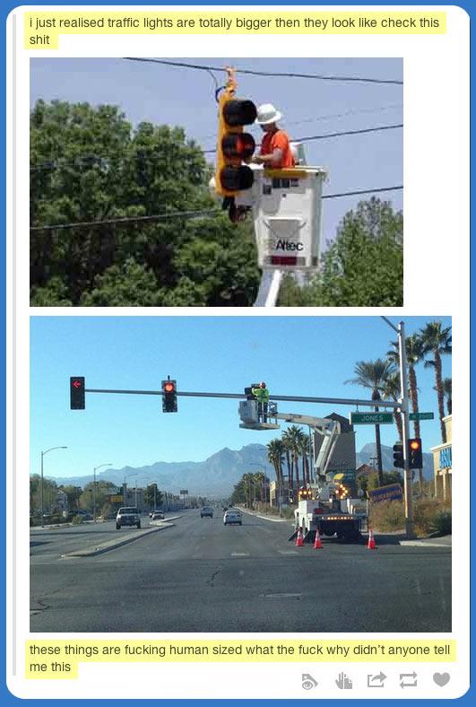 Traffic Lights Are Actually Pretty Huge Car Humor